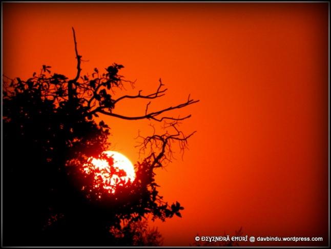 सिद्धगडावरील सूर्यास्त....